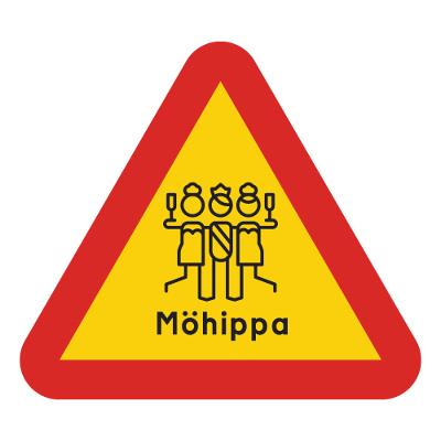 varningsskylt för möhippa